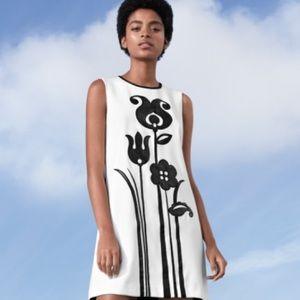 Victoria Beckham Black White Mode Tulip dress 💃🏻